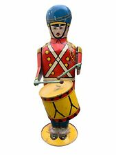 Vintage 1939 Wolverine Tin Litho Drummer Boy No. 27 Drum Major Wind-up Toy AS IS