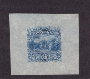 121-E1 i XF Scarce blue Die on clear white bond paper with scv $ 600 ! see pic !