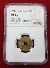 French Equatorial Africa 10 Centimes 1943 Pretoria KM 4 NGC MS 66
