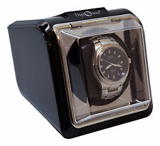 Diplomat Watch Winder Automatic Case Box Storage Timer black
