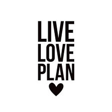 Simple Stories - Carpe Diem - Black Planner Decal - Live Love Plan 8958