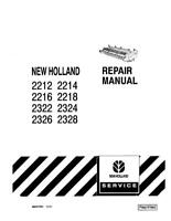 NEW HOLLAND 2212 2214 2216 2218 2322 2324 2326 2328 SERVICE MANUAL