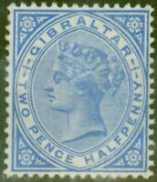 Gibraltar 1886 2 1/2d Blue SG11 Fine Lightly Mtd Mint