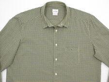Mens Lacoste LIVE L/S 100% Cotton Navy Blue & Yellow Check Sz 45 XL NU CONDITION