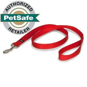 """PetSafe Nylon Leash 6 ft (3 Widths to Choose From 1"""", 3/4"""" or 3/8"""") Red"""