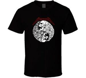 METALLICA Rock Music shirt black white tshirt men's free shipping