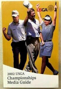 2002 USGA Championships Media Guide. Excellent shape! Karrie Webb, Goosen....
