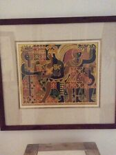Hon Chew Hee Royal Hawaiian Family Serigraph Koa Frame Hawaiiana Art Listed