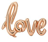 "RoseGold ""LOVE"" Script Font 32"" Letter Foil  Mylar Balloon Party Supply"