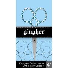 """Gingher Lauren Embroidery Scissors 4""""  272-1013, by Fiskars  Sewing & Quill"""
