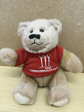 Manchester 2002 Commonwealth Games Bear  Beanie bottom SOFT TOY 15cm