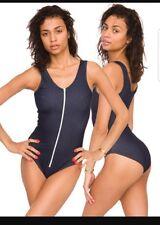 American Apparel denim  look Zip Bodysuit medium