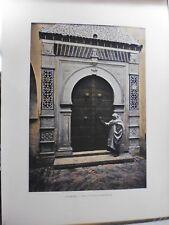 TUNISIE:Gravure 19°in folio couleur/ Porte du palais de Khaznadar