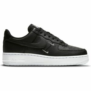 Mens Nike Air Force 1'07 Ess CT1989-002 Black Leather Men's Fashion