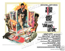 LIVE AND LET DIE LOBBY CARD POSTER BQ 1973 JAMES BOND ROGER MOORE JANE SEYMOUR