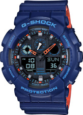Casio G-Shock Military Blue Chronograph 200 Meter WR 5 Alarm Watch GA100L-2A