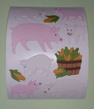 🦁🍀Sandylion BIG Schweine Stoff Fuzzy   Scrapbooking Sticker selten🍀🦁