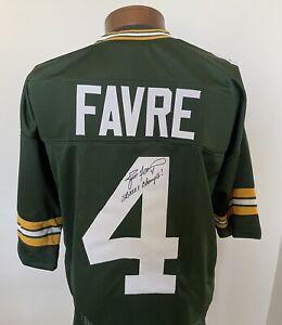 Brett Favre Signed Green Bay Packers Custom Jersey Super Bowl Favre COA.
