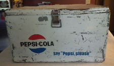 Vintage Original Pepsi Cola Cooler Chest White Rare W/Handles 2 Bottle Openers
