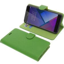 Funda Neffos C7 Book Style Protección Funda Teléfono Móvil Libro Verde