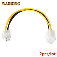 2pcs ATX Male to 4Pin Female PC CPU Power Supply Extension Cable Cord Adapter