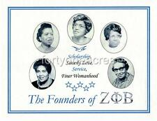 "FOUNDERS Series - Zeta Phi Beta Print - ""Finer Womanhood"" (Version 1)"