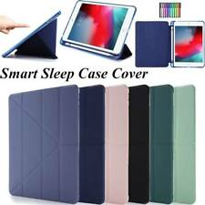 "For iPad 10.2 Pro 11 12.9"" 2018 2020 Case PU Leather Smart Cover With Pen Slot"