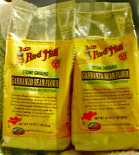(2 pack) Bob's Red Mill Garbanzo Bean Flour. Gluten Free baking chickpea. 1lb
