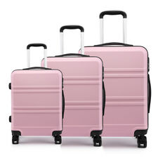 Luggage Trolley Travel Case Ryanair Lightweight Suitcase Spinning Wheel Pink