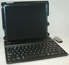 NEW ZaggKeys Apple iPad 2/3/4 BLACK ProFolio Keyboard Shell Case Stand Bluetooth