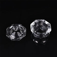 Crystal Glass Dappen Dish with Lid Bowl Cup Nail Art Craft Salon School Tool ^P