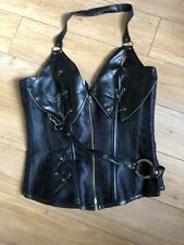 Halloween Pirate Burlesque Steam Punk Corset 8-10 Black