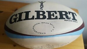 Official Harlequins RFC Signed Gilbert Rugby Ball - 1997 Squad Signatures