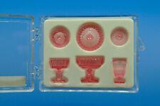 Chrysnbon 3 Piece Depression Era Candy Dish Set, Pink