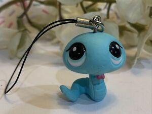 Littlest Pet Shop LPS Authentic 2028 Mini Dangler Tomy Gacha Blue Snake Blindbag
