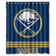 "Personalized Buffalo Sabres Hockey Waterproof  60"" x 72"" Shower Curtain"