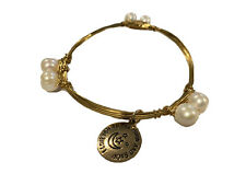 """Moon And Back� Charm Bracelet With Pearls alex and ani """"I Love You To The"""