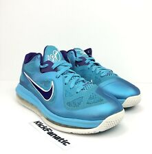 Nike LeBron 9 Low Turquoise Court Purple Summit Lake Hornets Shoes Sz 8.5