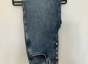 J Brand Heather High Rise Five  Button Fly  Straight Jeans Waist 26 Blue H7