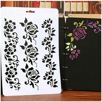 Craft Scrapbooking Embossing DIY Layering Stencils Paper Card Painting Flower