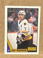 1987-88 O-Pee-Chee #87 Ray Bourque Hockey card OPC Bruins