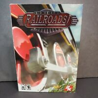 Sid Meiers Railroads ! PC cd-rom software video game Firaxis 2K new sealed case