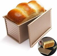Loaf Pan Non-Stick Bakeware Carbon Steel Bread Toast Mold w/ Cover for Baking US