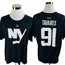 Reebok New York Islanders Nhl John Tavares Black T-Shirt Men's 2Xl Xxl