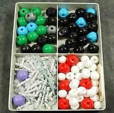 176pc Molecular Model Set Chemistry Science Atom Atomic Molecules Particle Kit