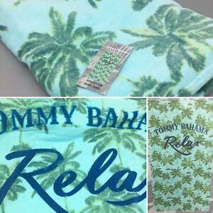 Tommy Bahama Relax Beach Towel Palm Trees Tropical Aqua Green Blue Faded 35x66