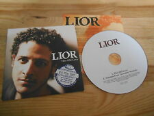 CD Pop Lior - This Old Love (2 Song) Promo-Sticker RED INK cb