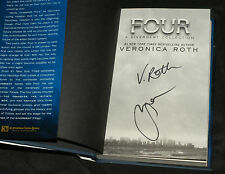 Shailene Woodley & Veronica Roth HAND SIGNED Divergent Four BOOK 1st edition