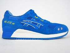 Mens Asics Gel Lyte III H40NQ 4949 Blue Lace Up Textile Leather Casual Trainers