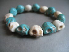 Modeschmuck-Armbänder aus Stein mit Türkis-Hauptstein für Herren
